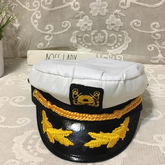 e199a7c8a Boat Captain's Pilot Hat Adjustable